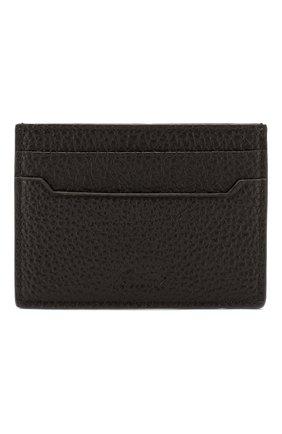 Мужской кожаный футляр для кредитных карт BRIONI темно-коричневого цвета, арт. 0HSI0L/04702 | Фото 1