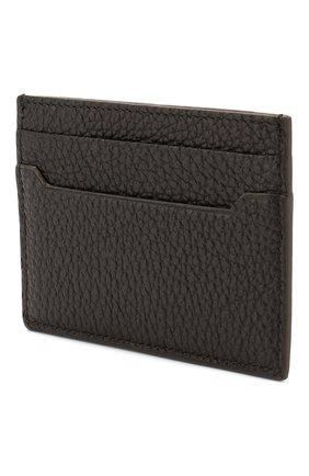 Мужской кожаный футляр для кредитных карт BRIONI темно-коричневого цвета, арт. 0HSI0L/04702 | Фото 2