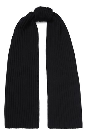 Мужской шерстяной шарф C.P. COMPANY темно-синего цвета, арт. 07CMAC217A-005509A | Фото 1