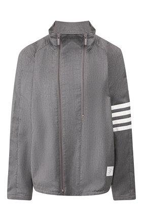Мужская шерстяная куртка THOM BROWNE серого цвета, арт. MJ0096A-00626 035 | Фото 1