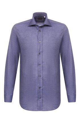 Мужская хлопковая рубашка LUCIANO BARBERA синего цвета, арт. 105489/72508 | Фото 1