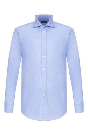 Мужская хлопковая рубашка LUCIANO BARBERA голубого цвета, арт. 105489/72508 | Фото 1