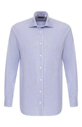 Мужская хлопковая сорочка LUCIANO BARBERA голубого цвета, арт. 105489/71305 | Фото 1