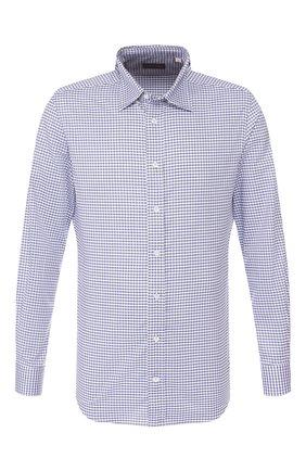 Мужская хлопковая сорочка LUCIANO BARBERA синего цвета, арт. 105424/72277 | Фото 1