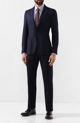 Мужская хлопковая сорочка LUCIANO BARBERA синего цвета, арт. 105424/72277 | Фото 2
