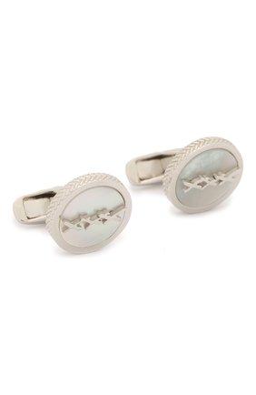Мужские серебряные запонки ERMENEGILDO ZEGNA серебряного цвета, арт. ZCL1015 | Фото 1