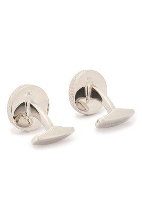 Мужские серебряные запонки ERMENEGILDO ZEGNA серебряного цвета, арт. ZCL1015 | Фото 2