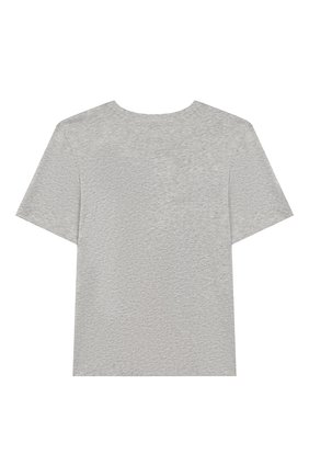 Детская хлопковая футболка CALVIN KLEIN JEANS серого цвета, арт. IB0IB00188   Фото 2