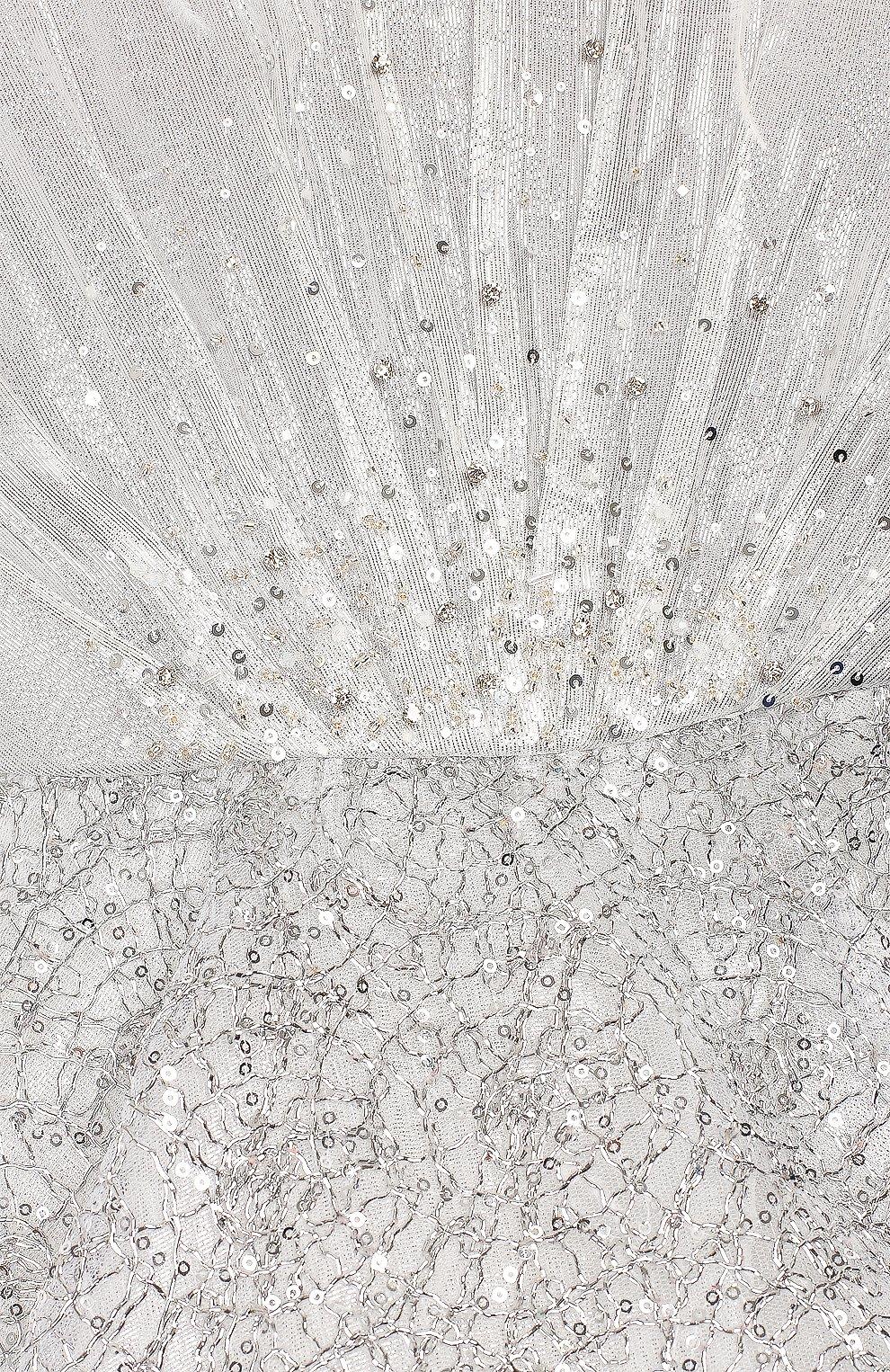 Детское платье YUDASHKIN KIDS серебряного цвета, арт. 319-KGE-473163   Фото 3