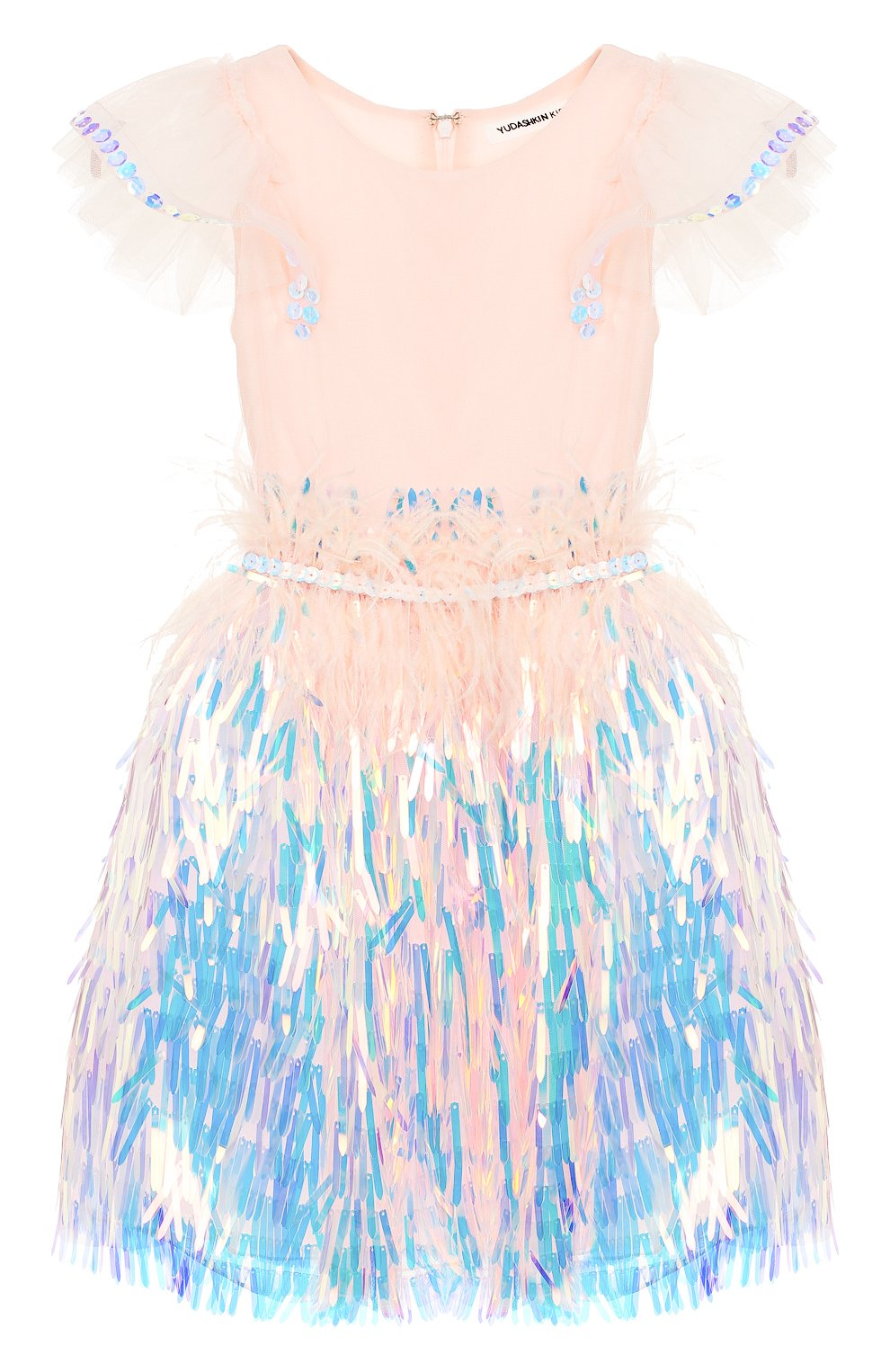 Детское платье YUDASHKIN KIDS светло-розового цвета, арт. 319-KGE-473139 | Фото 1