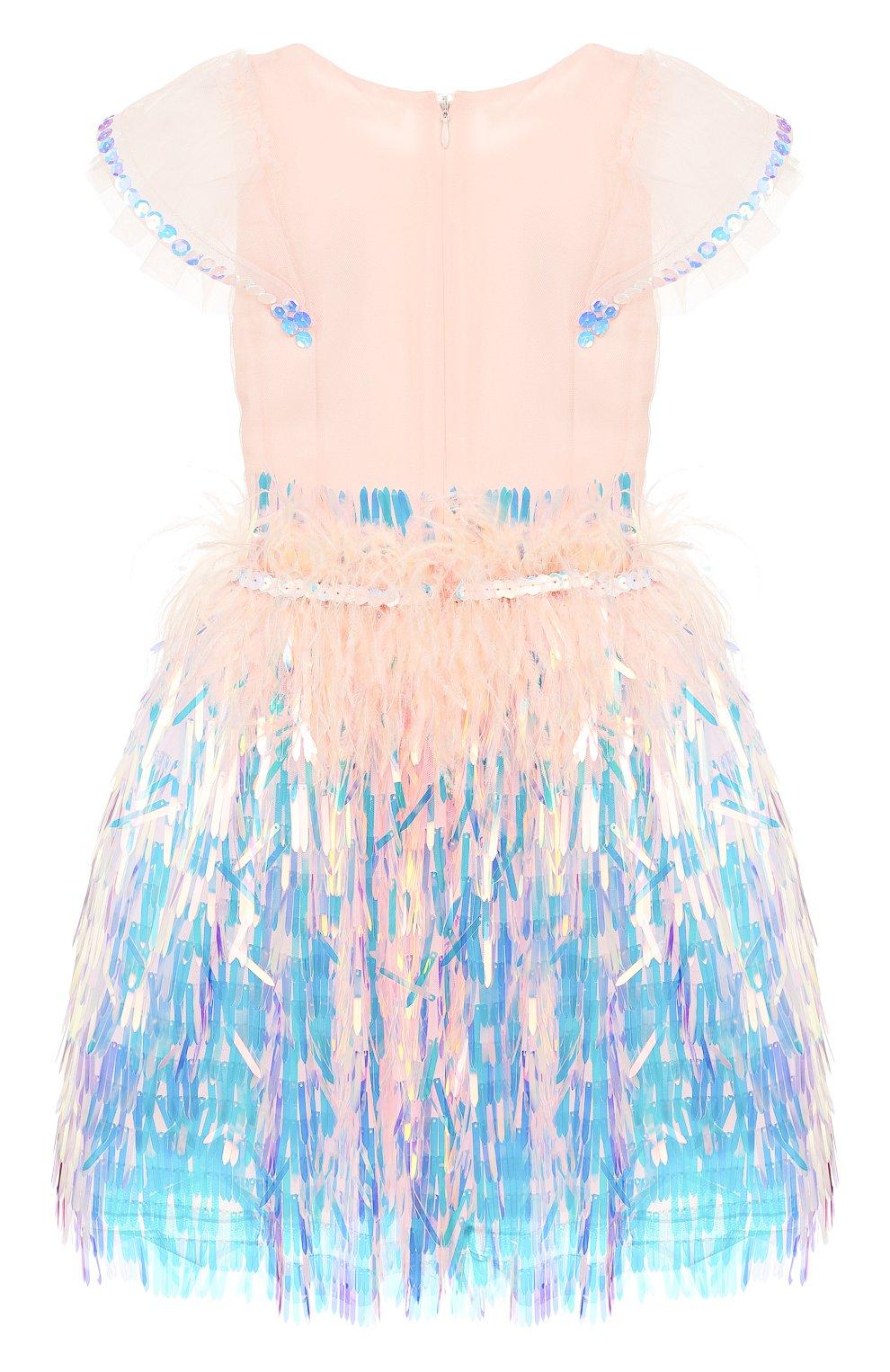 Детское платье YUDASHKIN KIDS светло-розового цвета, арт. 319-KGE-473139 | Фото 2