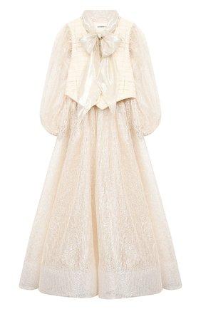Детское платье YUDASHKIN KIDS бежевого цвета, арт. 319-TGE-473155 | Фото 1