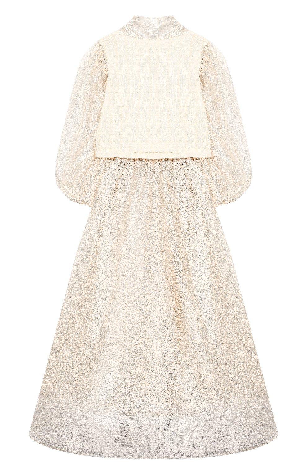 Детское платье YUDASHKIN KIDS бежевого цвета, арт. 319-TGE-473155 | Фото 2