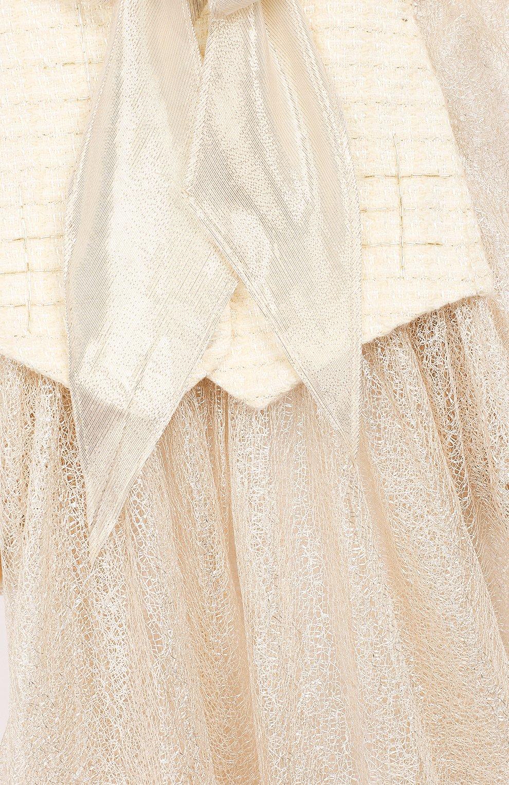 Детское платье YUDASHKIN KIDS бежевого цвета, арт. 319-TGE-473155 | Фото 3