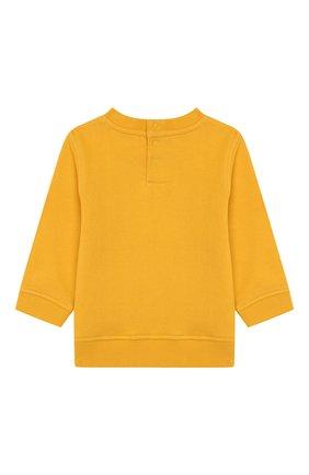 Детский хлопковый свитшот MARC JACOBS (THE) желтого цвета, арт. W05265 | Фото 2