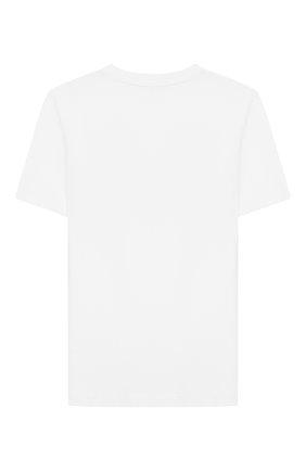 Детская хлопковая футболка CALVIN KLEIN JEANS белого цвета, арт. IU0IU00113 | Фото 2