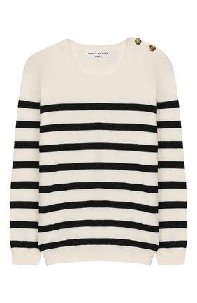 Детский пуловер из хлопка и шерсти SONIA RYKIEL ENFANT черно-белого цвета, арт. 19W1KN10 | Фото 1