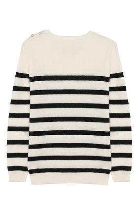 Детский пуловер из хлопка и шерсти SONIA RYKIEL ENFANT черно-белого цвета, арт. 19W1KN10 | Фото 2