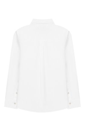 Детская хлопковая рубашка FENDI белого цвета, арт. JMC086/A31W/6A-8A | Фото 2