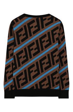 Детский шерстяной пуловер FENDI коричневого цвета, арт. JMG051/A8L7/10A-12+ | Фото 2