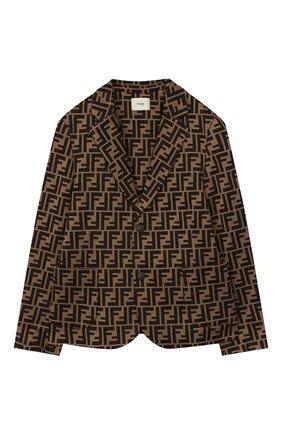 Детский пиджак FENDI коричневого цвета, арт. JMA137/A6A6/10A-12+ | Фото 1