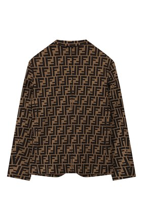 Детский пиджак FENDI коричневого цвета, арт. JMA137/A6A6/10A-12+ | Фото 2