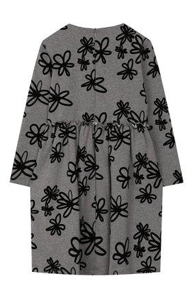 Детское хлопковое платье IL GUFO серого цвета, арт. A19VL342M4016/2A-4A | Фото 2