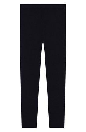 Детского кашемировые брюки IL GUFO темно-синего цвета, арт. A19PL115EM300/10A-12A | Фото 2