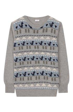 Детский шерстяной пуловер IL GUFO серого цвета, арт. A19MA303EM620/5А-8А | Фото 1