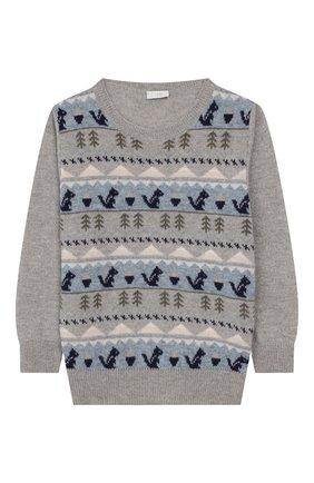 Детский шерстяной пуловер IL GUFO серого цвета, арт. A19MA303EM620/2А-4А | Фото 1