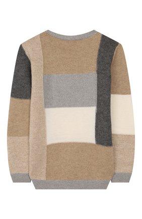 Детский шерстяной пуловер IL GUFO бежевого цвета, арт. A19MA278EM220/5A-8A | Фото 2