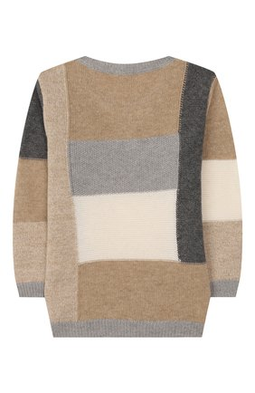 Детский шерстяной пуловер IL GUFO бежевого цвета, арт. A19MA278EM220/2A-4A | Фото 2