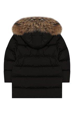 Пуховая куртка с меховой отделкой | Фото №2