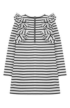 Детское хлопковое платье BALMAIN черно-белого цвета, арт. 6L1040/LA840/12-16 | Фото 2