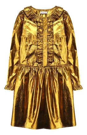 Детское платье STELLA MCCARTNEY золотого цвета, арт. 566728/SNK91 | Фото 1