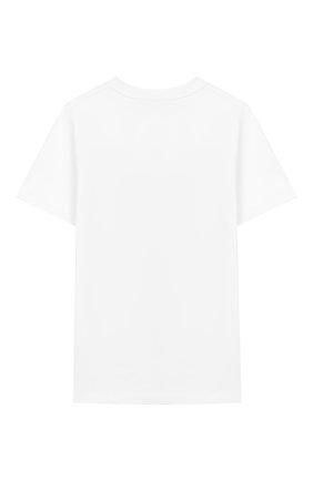 Детская хлопковая футболка BURBERRY белого цвета, арт. 8017847 | Фото 2