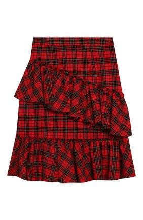 Детская хлопковая юбка PHILOSOPHY DI LORENZO SERAFINI KIDS красного цвета, арт. PJG007/CQ281/UHUNI/S-M | Фото 2