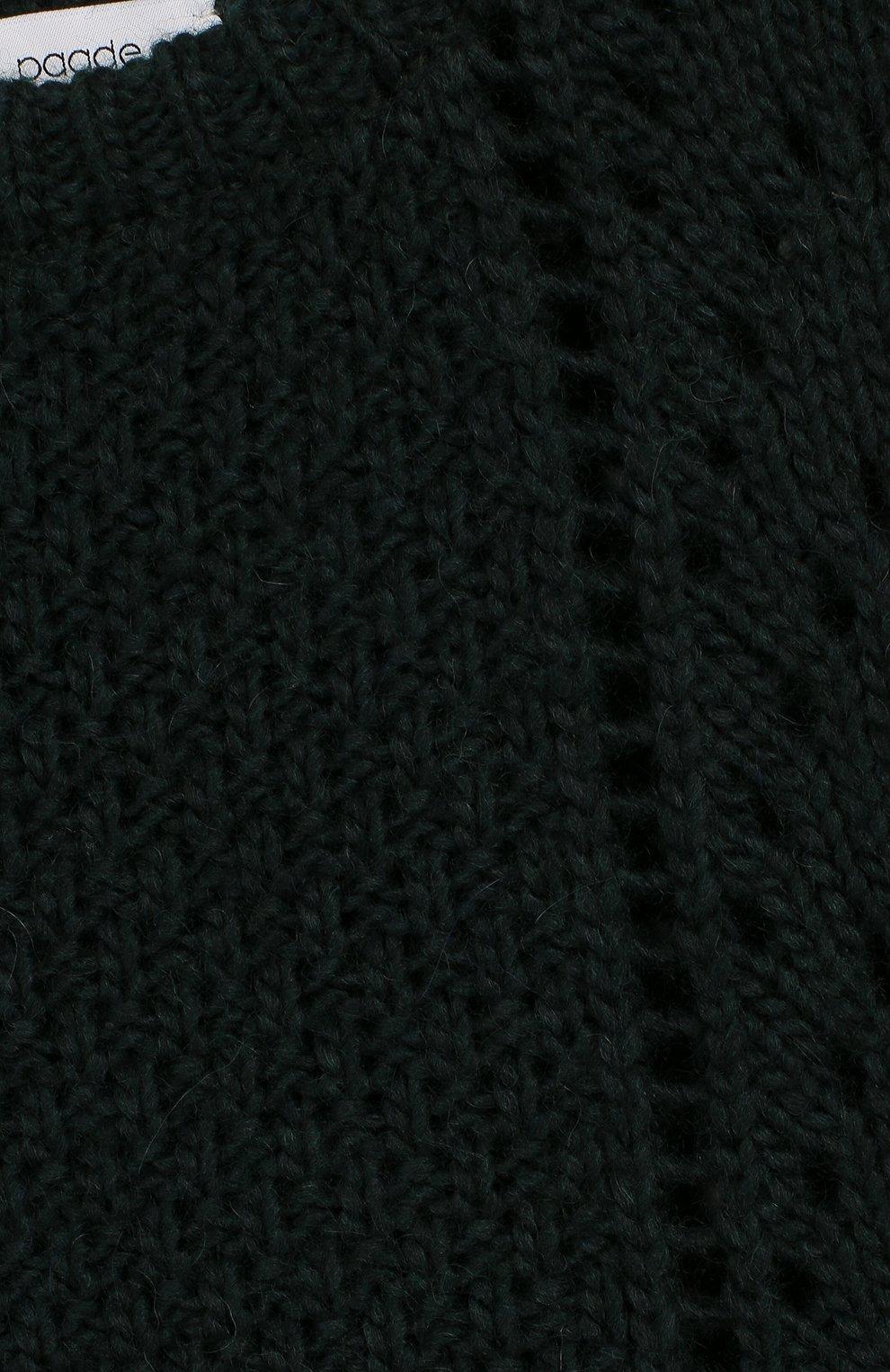 Детский пуловер из шерсти PAADE MODE светло-зеленого цвета, арт. 94142/10Y-16Y | Фото 3 (Девочки Кросс-КТ: Пуловер-одежда; Материал внешний: Шерсть, Синтетический материал; Рукава: Длинные; Принт: Без принта; Ростовка одежда: 10 - 11 лет | 140 - 146см, 12 лет | 152 см)