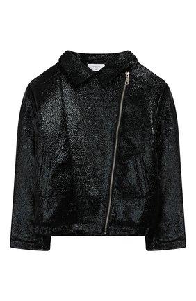 Детская куртка с косой молнией PAADE MODE черного цвета, арт. 94081/10Y-16Y | Фото 1