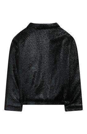 Детская куртка с косой молнией PAADE MODE черного цвета, арт. 94081/10Y-16Y | Фото 2
