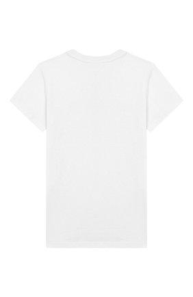 Детская хлопковая футболка BALMAIN белого цвета, арт. 6L8001/LC750/4-10 | Фото 2