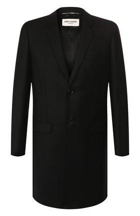 Мужской шерстяное пальто SAINT LAURENT черного цвета, арт. 579825/Y136V | Фото 1