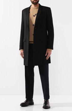 Мужской шерстяное пальто SAINT LAURENT черного цвета, арт. 579825/Y136V | Фото 2