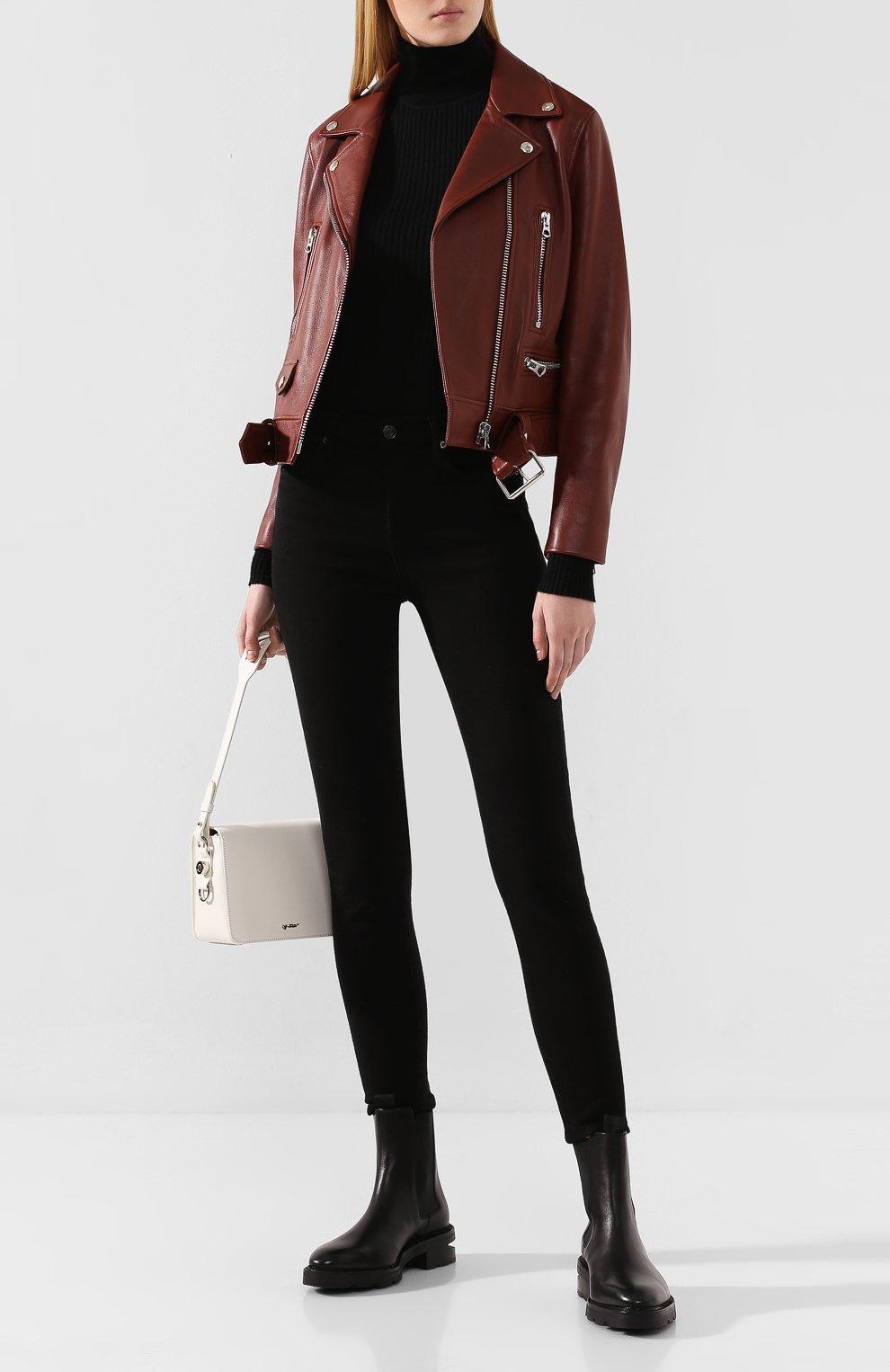 Женские кожаные челси andy ALEXANDER WANG черного цвета, арт. 30C219B010 | Фото 2