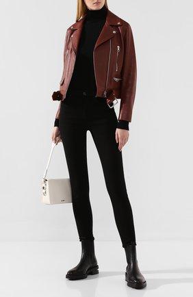 Женские кожаные челси andy ALEXANDER WANG черного цвета, арт. 30C219B010   Фото 2