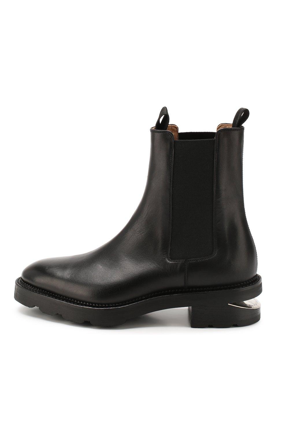 Женские кожаные челси andy ALEXANDER WANG черного цвета, арт. 30C219B010 | Фото 3