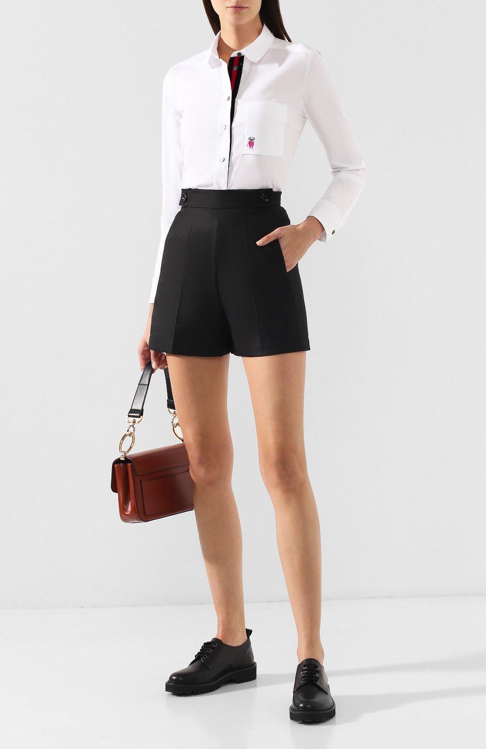 Женские шорты TEREKHOV GIRL черного цвета, арт. 2SR001/8799.900/W20 | Фото 2