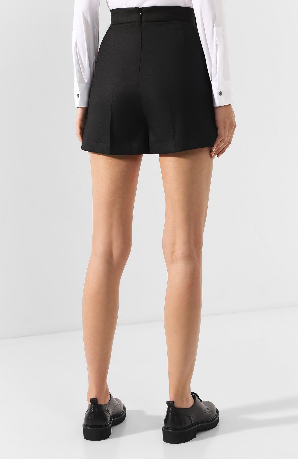 Женские шорты TEREKHOV GIRL черного цвета, арт. 2SR001/8799.900/W20 | Фото 4
