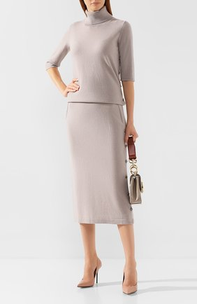Женская кашемировая юбка RE VERA светло-бежевого цвета, арт. 19201344   Фото 2
