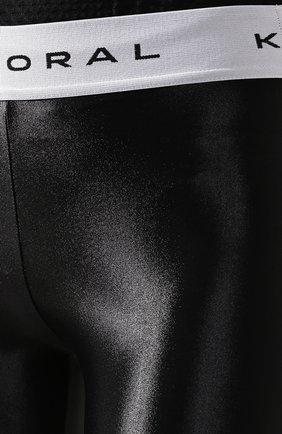 Женские леггинсы KORAL черного цвета, арт. A2328S04   Фото 5 (Женское Кросс-КТ: Леггинсы-одежда, Леггинсы-спорт; Длина (брюки, джинсы): Стандартные, Укороченные; Кросс-КТ: Спорт; Материал внешний: Синтетический материал; Статус проверки: Проверено, Проверена категория)